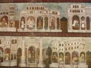 Peintures sur bois, palais de Tippu Sultan, Srirangapatnam