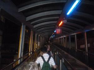 Dans l'escalator qui traverse Hong Kong