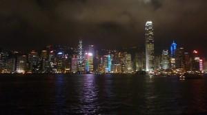 La ligne des gratte-ciels de Hong-Kong ; belle et effrayante...