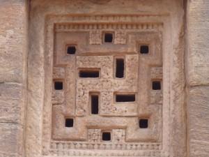 Fenêtre astucieuses donnant une lumière douce tout en gardant la fraîcheur dans le temple