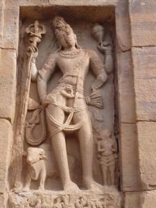 HariHara ornant l'extérieur du temple de Virupaksha