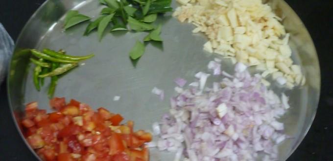 Les légumes hachés finnement