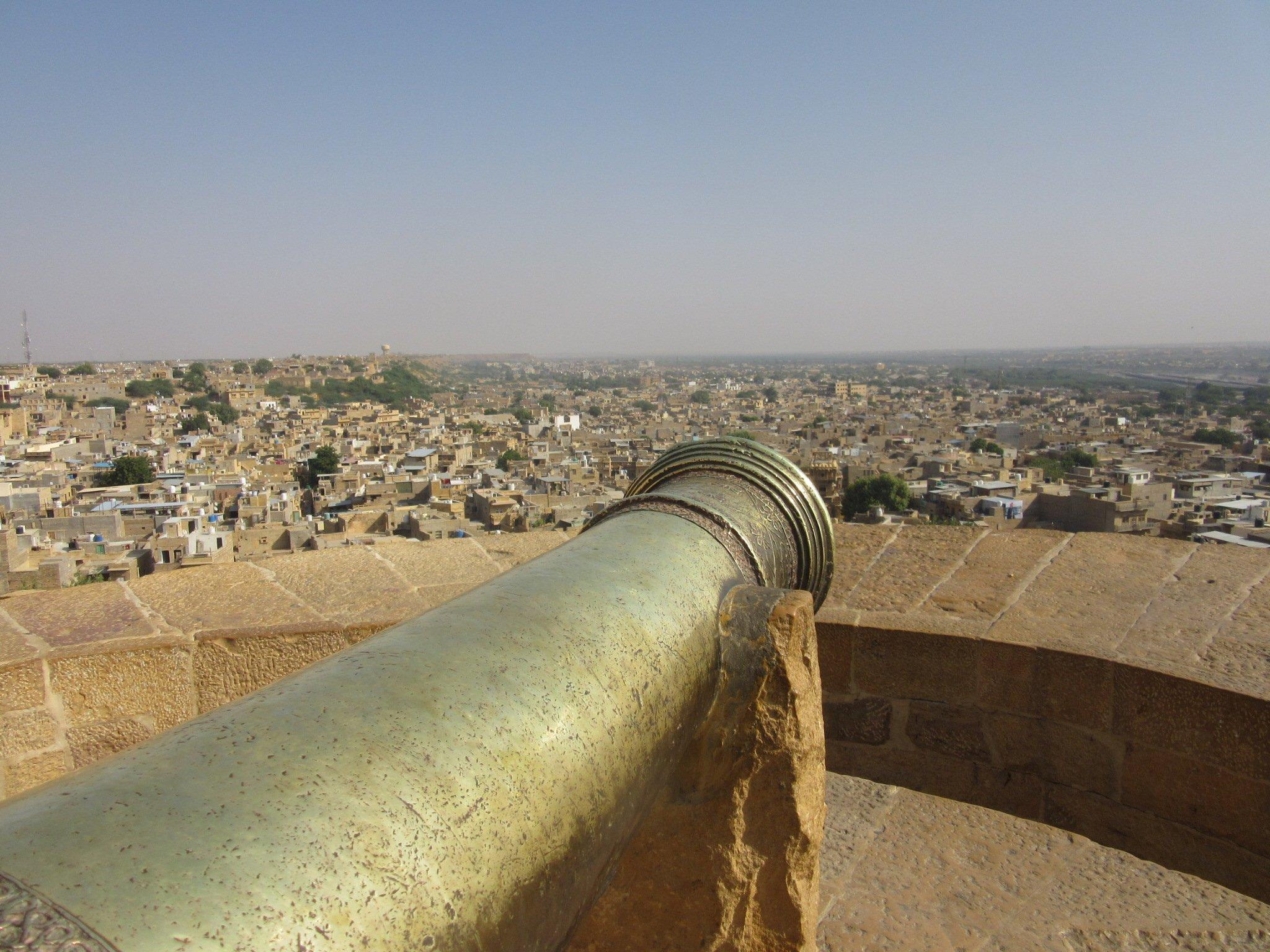 Canon sur le fort de Jaisalmer